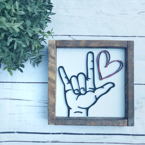 sign language love you 3D sign