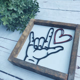 I Love You 3D sign language sign