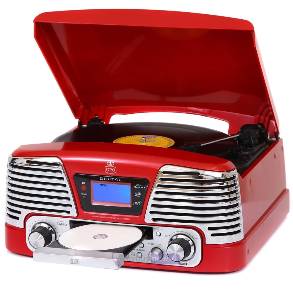 GPO Memphis Record Player Red