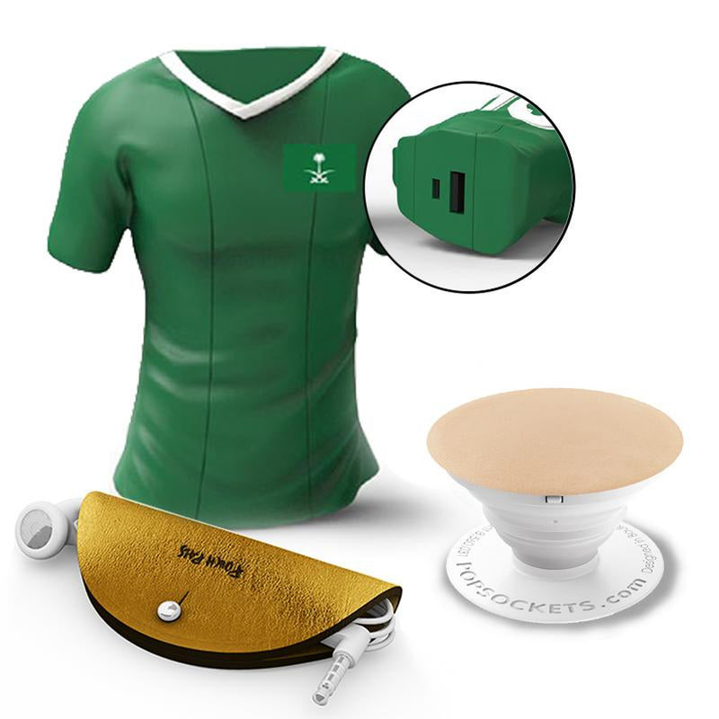 huge discount afb09 65936 MOJI POWER T-SHIRT Powerbank 2600 MAH KSA + POPSOCKETS Mobile Grip + POUCH  PALS Cord Case Bundle - DXB.NET