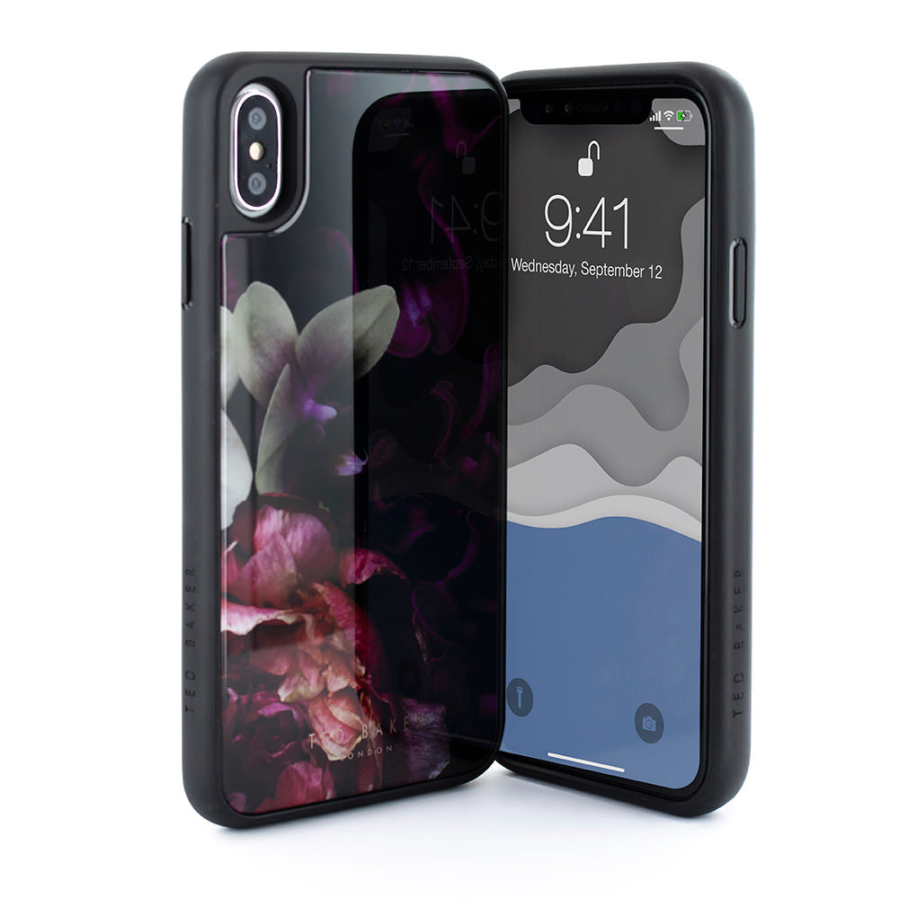 newest dcb2e b0543 TED BAKER Glass Inlay - Splendour Black For iPhone XS Max - DXB.NET