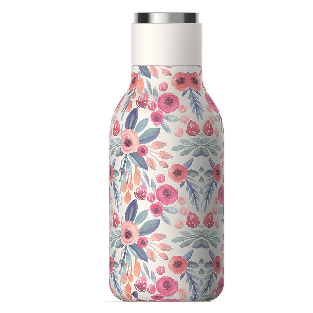 ASOBU Urban Insulated and Double Walled 16 Ounce 24hrs Cool Stainless Steel Bottle - Floral