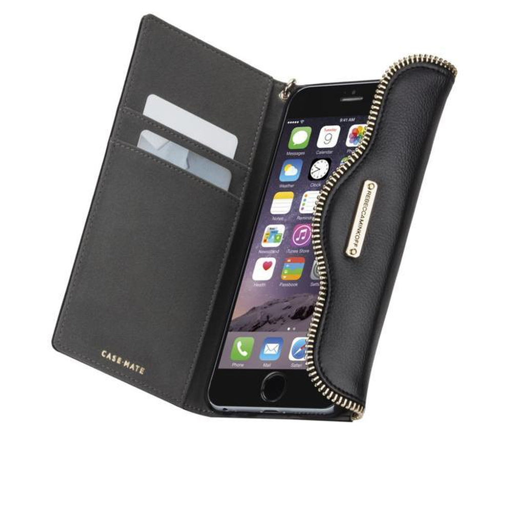 REBECCA MINKOFF Wristlet - Black For iPhone 6