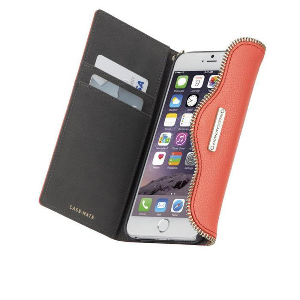 REBECCA MINKOFF Wristlet - Coral For iPhone 6