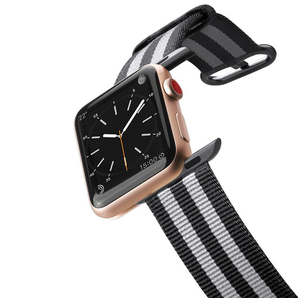 CASETIFY Apple Watch Band Nylon Fabric All Series 42 mm Black Stripes