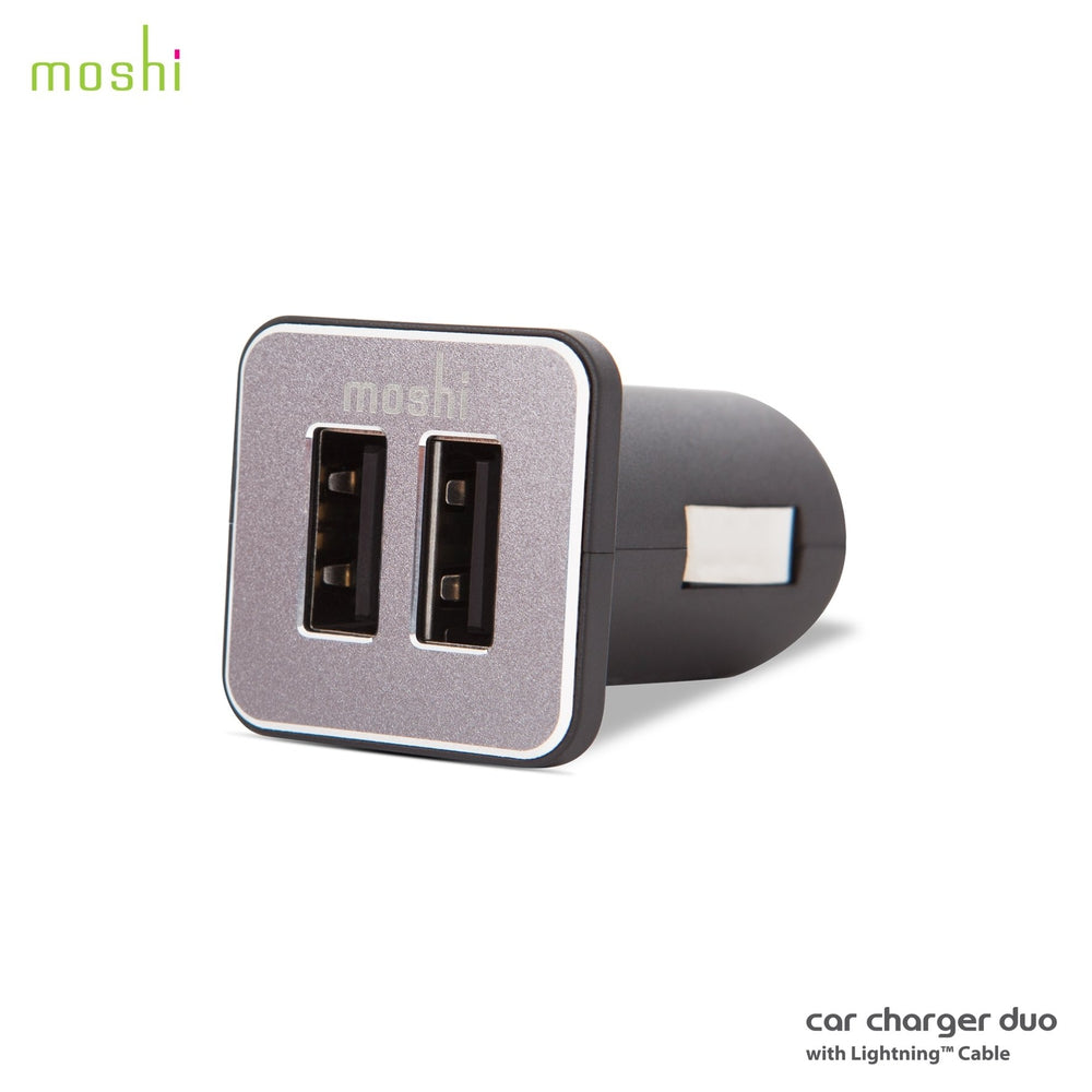 MOSHI Revolt Duo With Lightning Cable 1.8 m ( 20W Dual-Port USB Car Charger )