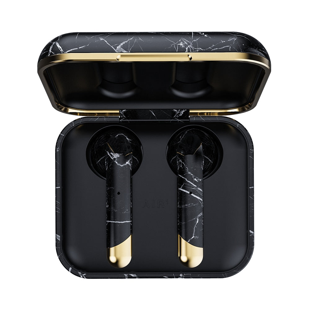 HAPPY PLUGS Air 1 True Wireless Headphones Limited Edition - Black Marble