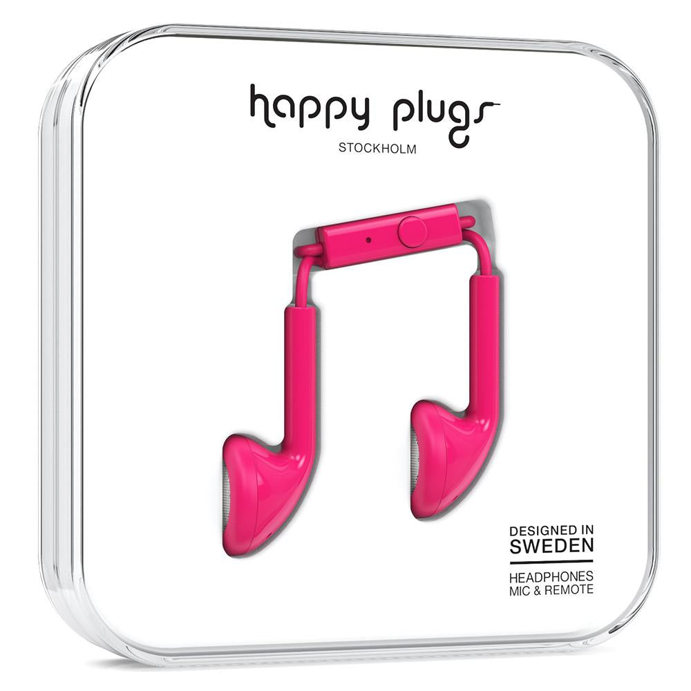 HAPPY PLUGS Earbuds Cerise