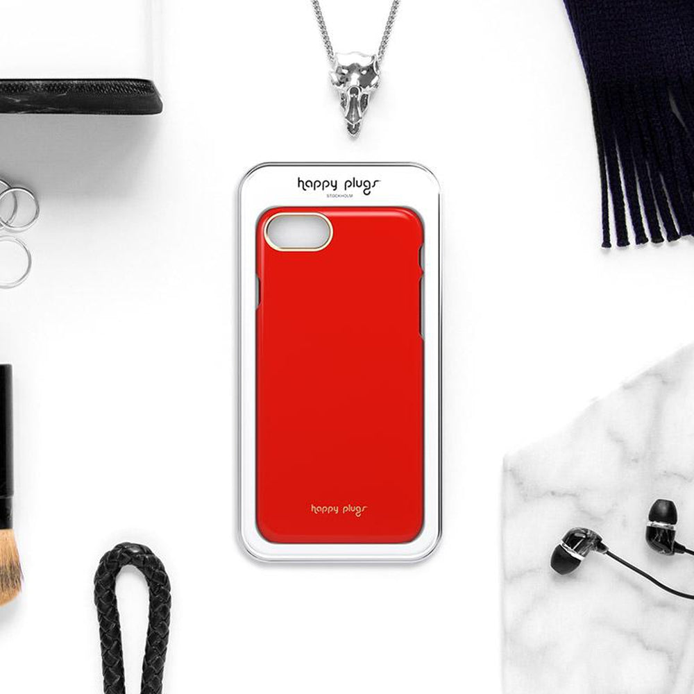 HAPPY PLUGS Slim Case for iPhone 8 / 7 Red