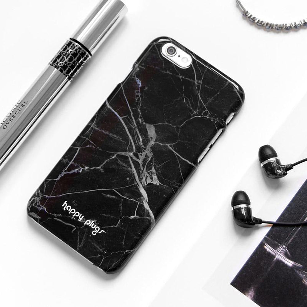 reputable site 20dab 82824 HAPPY PLUGS Slim Case Deluxe for iPhone 8 / 7 Black Marble - DXB.NET
