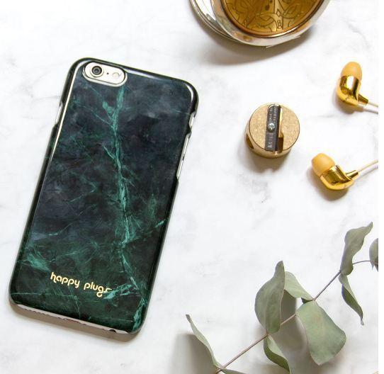 HAPPY PLUGS Slim Case Deluxe for iPhone 8 / 7  Jade Green Marble