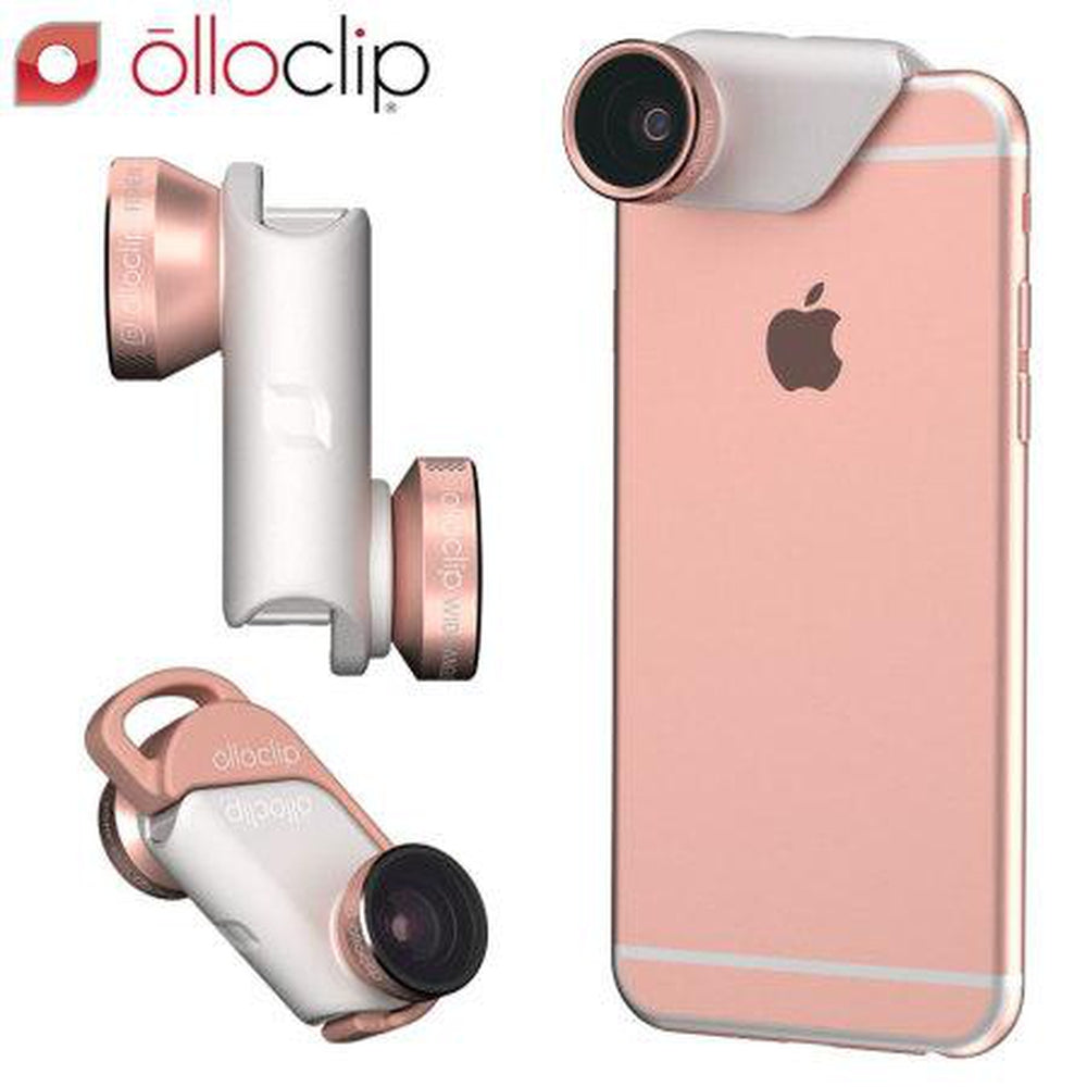 OLLOCLIP 4-in-1 Lens With Pendant Rose Gold - For iPhone 6S/6S Plus