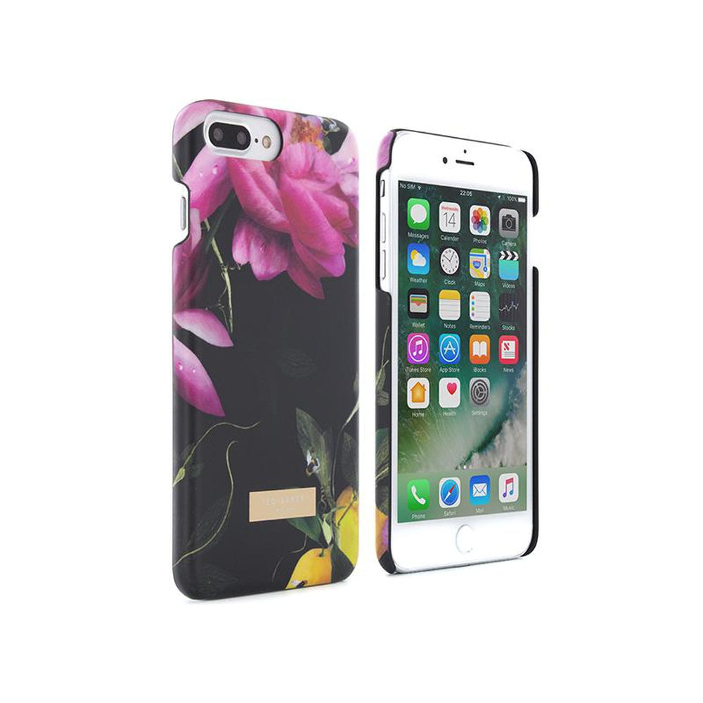 reputable site 91e4d 10cee TED BAKER Shell Case Citrus Bloom Black for iPhone 8 Plus / 7 Plus