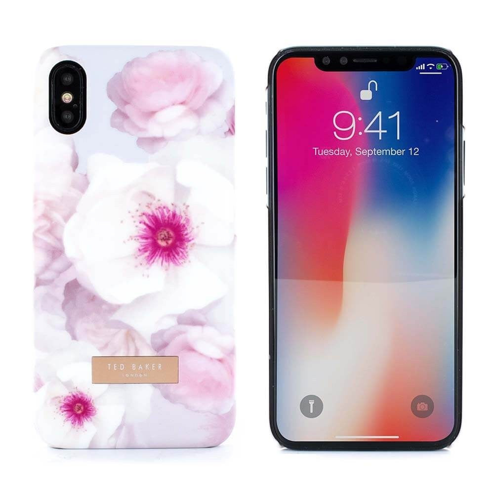 TED BAKER SOFT FEEL HARD SHELL Case Namala Chelsea Grey For iPhone XS/X