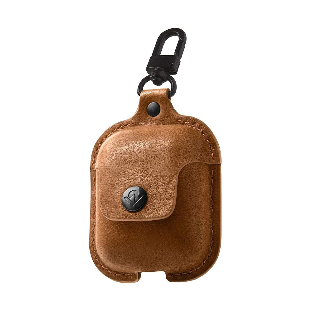 TWELVE SOUTH AirSnap Leather Protective Case for AirPods - Cognac