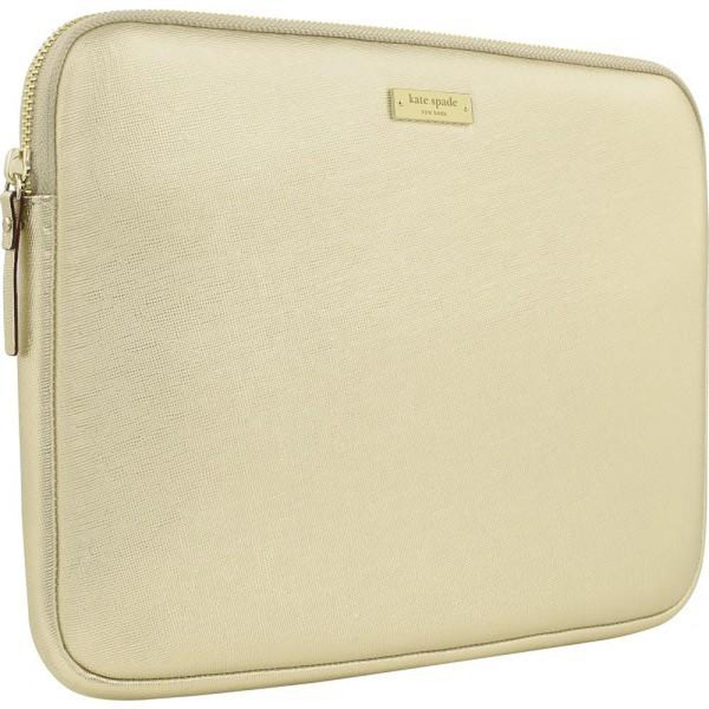 KATE SPADE NEW YORK Saffiano Laptop Sleeve for Macbook 13 Gold