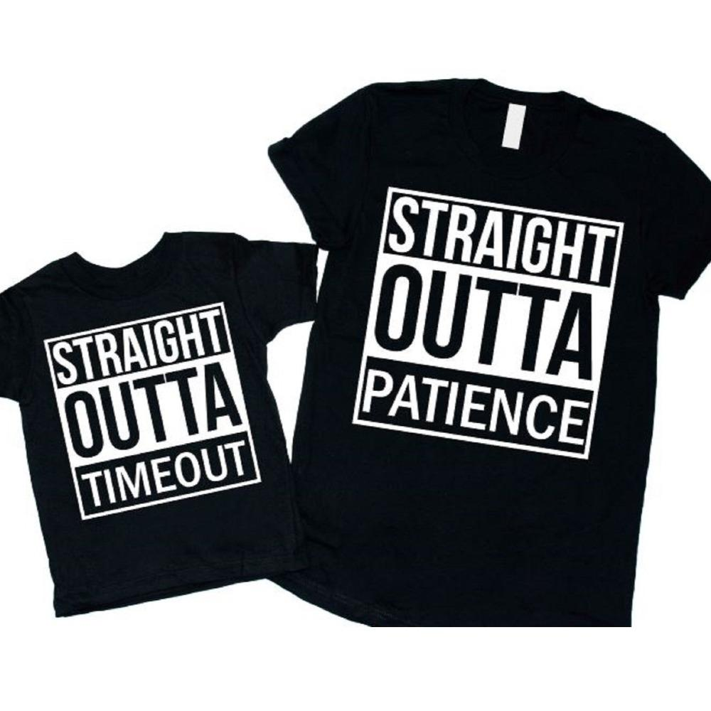 Straight Outta Patience & Straight Outta Timeout Mommy and Me Shirts - ABadInfluence
