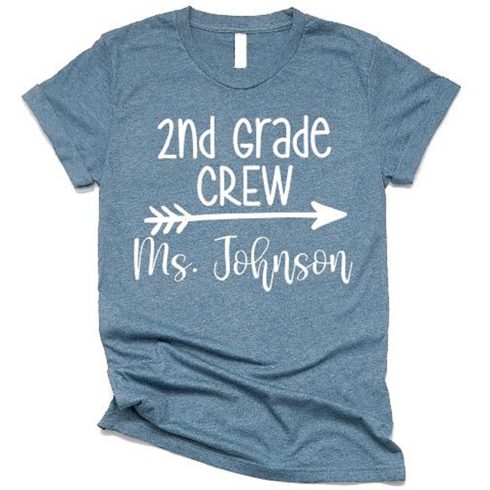 Second Grade Crew Teacher Tees - ABadInfluence