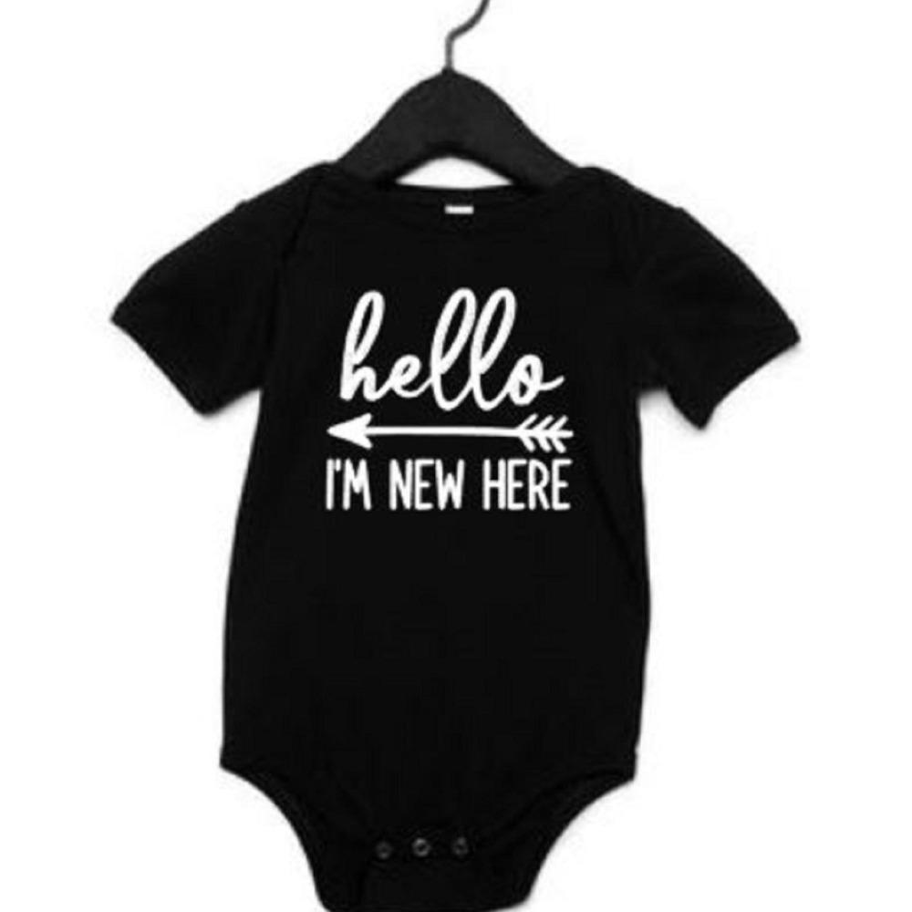Hello I'm New Here Newborn Bodysuit Gift For New Baby - ABadInfluence
