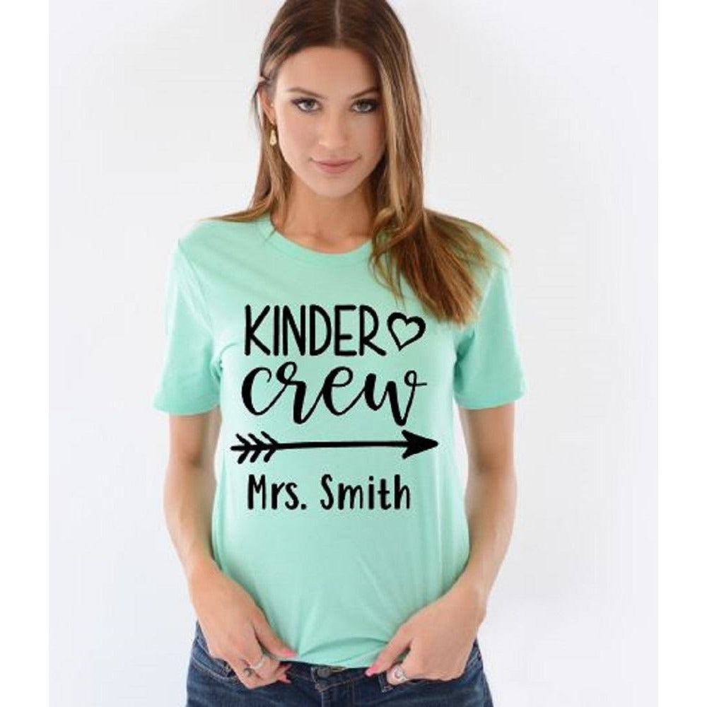 Kinder Crew Teacher Tees - ABadInfluence