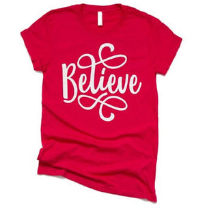 Believe Christmas Shirt for Women - ABadInfluence