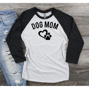 Dog Mom Raglan Unisex Fit Shirt - ABadInfluence