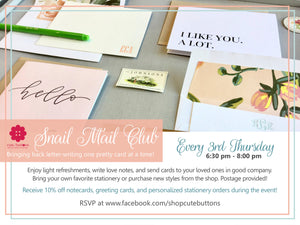 💌 Join Cute Buttons Snail Mail Club with a Kickoff Event on March 21 💌