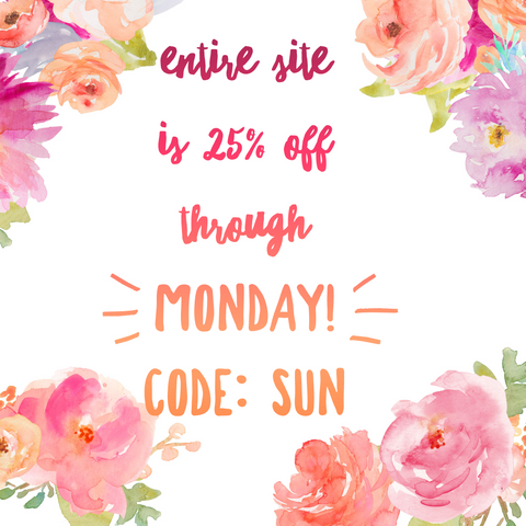 Memorial Day Weekend Sale Cute Buttons Gift and Paper Boutique