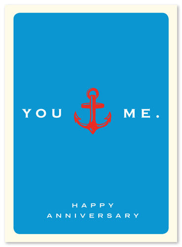 Anniversary Anchor Card by J. Falkner