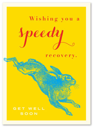 Get Well Soon Rabbit Card by J Falkner