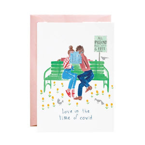 Love in the Time of Covid - Greeting Card