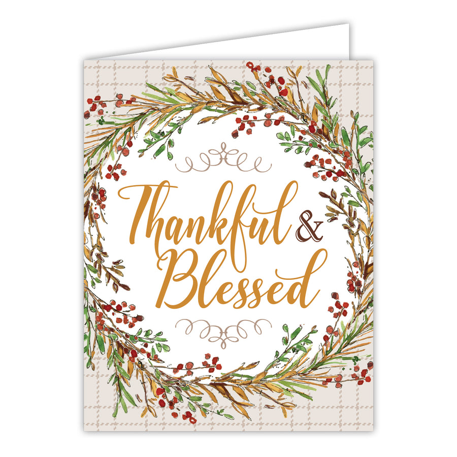Thankful and Blessed Greeting Card