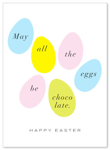 Chocolate Easter Eggs Card by J. Falkner