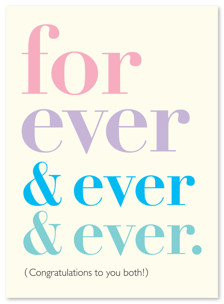 """Forever & Ever"" Engagement/Wedding Card by J. Falkner"