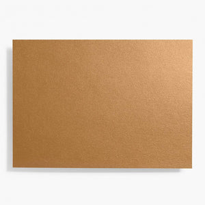 A7 Shimmer Antique Gold Note Cards | Set of 10