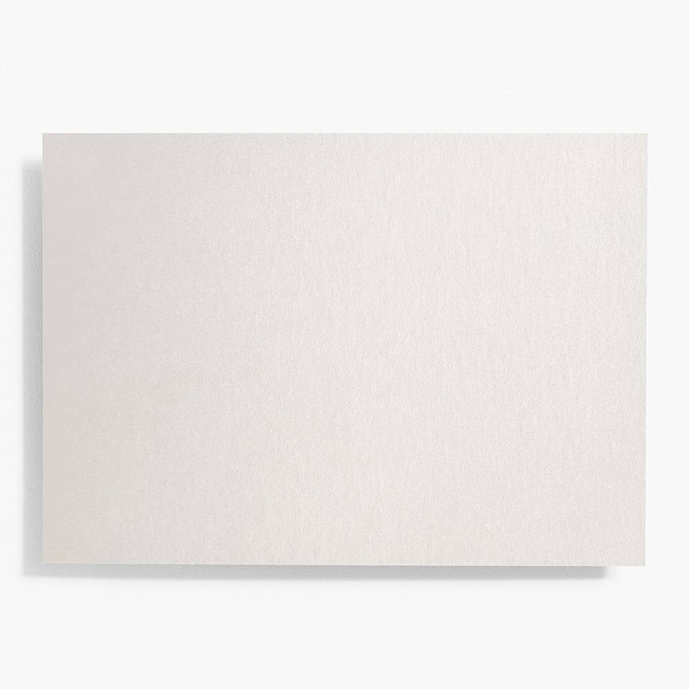 A7 Shimmer Silver Note Cards | Set of 10