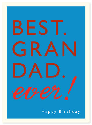 Grandad Birthday Card by J. Falkner