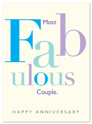Fabulous Anniversary Card by J. Falkner