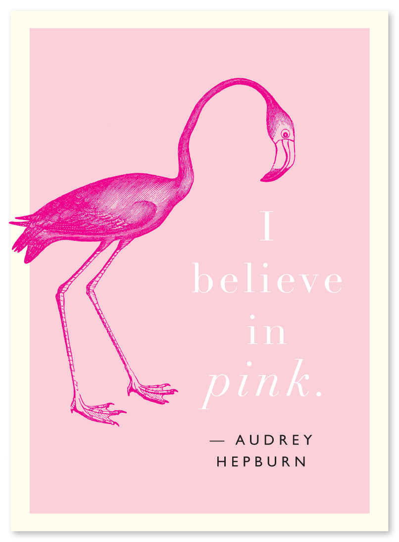 "Audrey Hepburn ""Pink"" Quote by J Falkner"