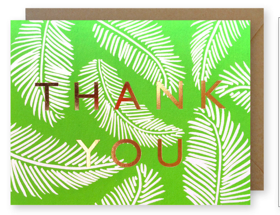 Gold Foil Palm Thank You