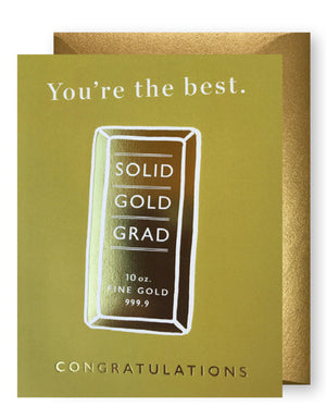 Solid Gold Graduation Cards