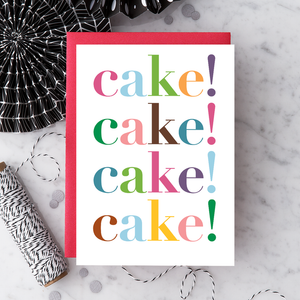 Cake Cake Cake Birthday Card
