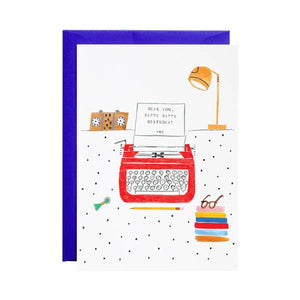 Royal Typewriter - Happy Birthday Greeting Card