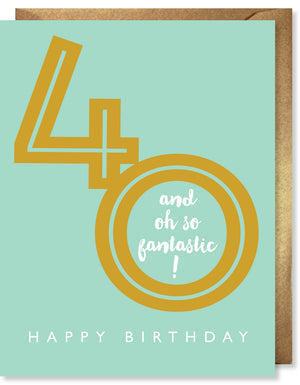 Gold Foil Fantastic 40 Card by J. Falkner