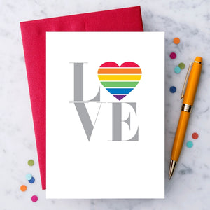 Love Rainbow Heart Greeting Card