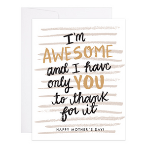 Awesome Kid Mother's Day Card