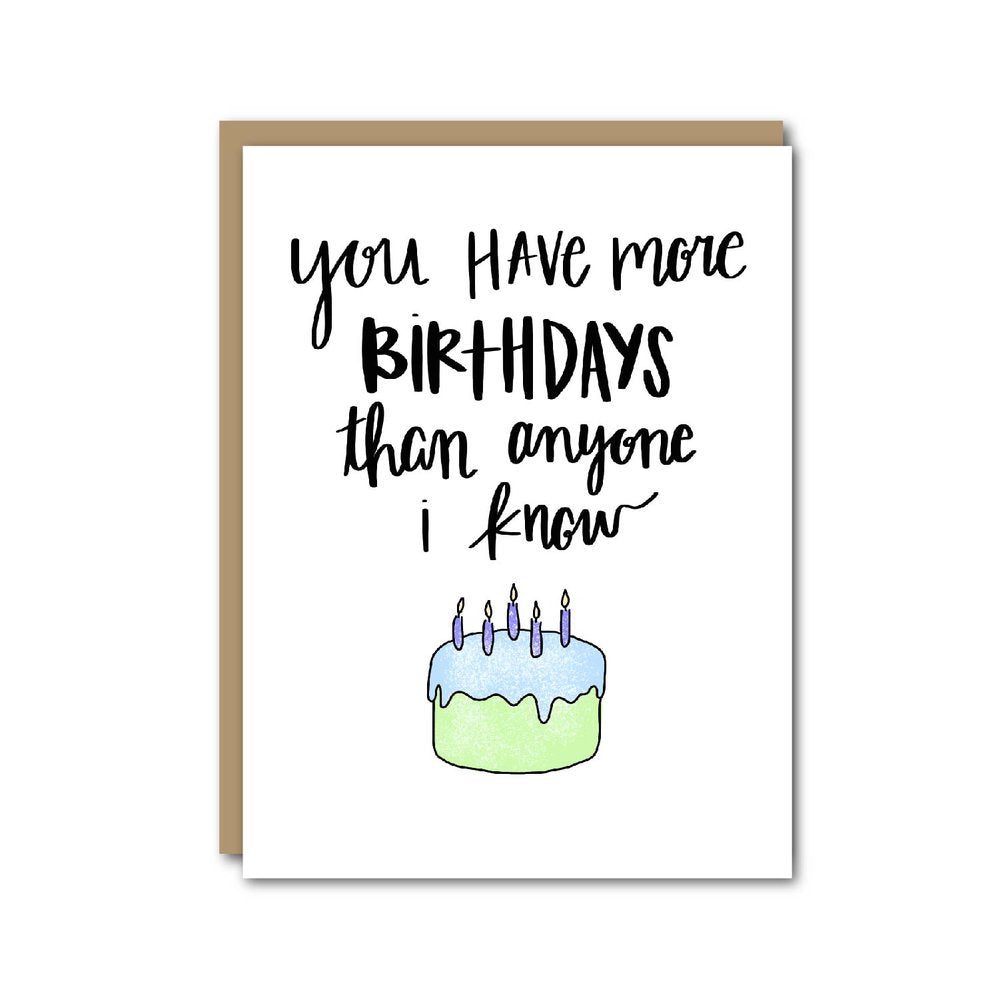 You Have More Birthdays Card