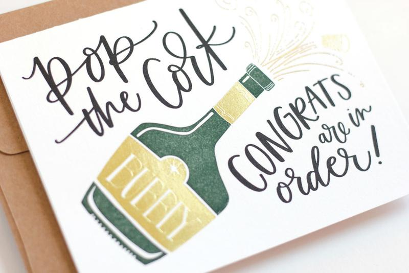 Congrats Champagne Greeting Card