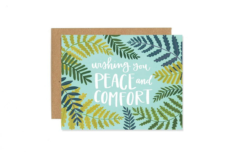 Wishing You Peace And Comfort Greeting Card