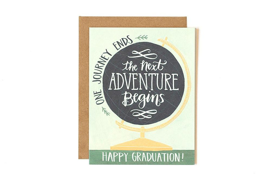 Globe Graduation Greeting Card